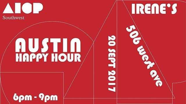 Join campers and the ad community for drinks at the @aicpsw Austin Happy Hour Sept 20th @irenesaustin.