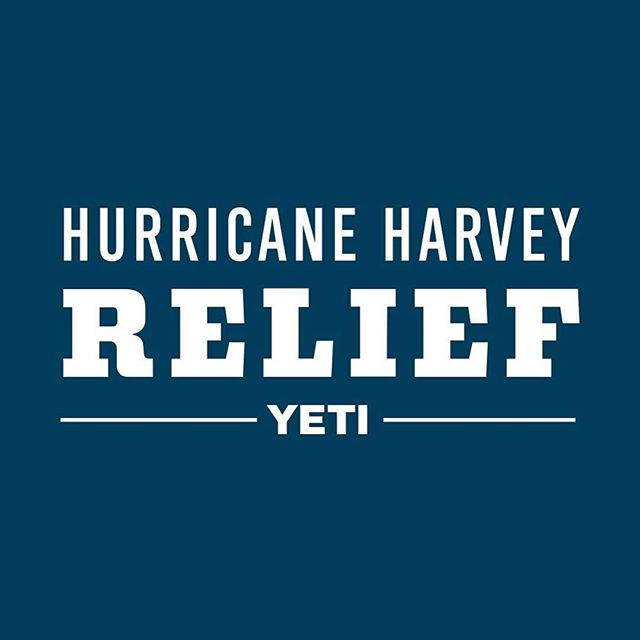This Friday @yeti is donating 100% of sales from YETI.com and their Flagship store (220 S Congress) directly to hurricane relief funds for the Gulf Coast region. Spread the good word. #hurricaneharvey