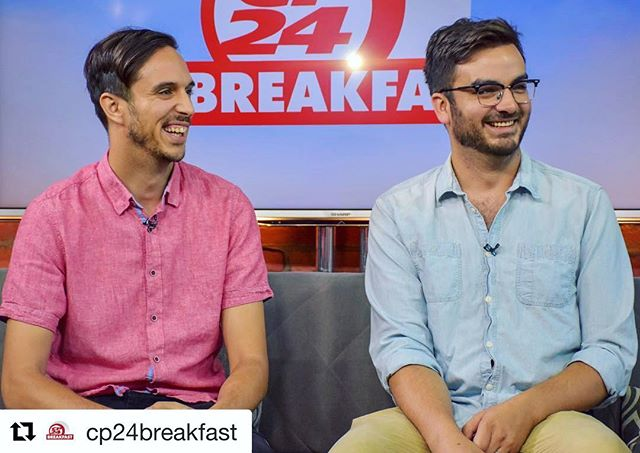 Missed @migrivas & @freddienoelrivas this morning on CP24 Breakfast? Head over to their webiste if you'd like to listen. Link for tickets in shows at @justforlaughs in bio! ☝🏼 . . @comedybarto @cp24breakfast @rappbattlez