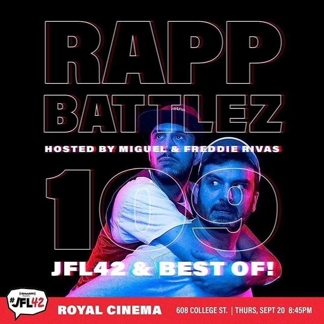 Just announced, Rapp Battlez 109 @theroyalto this Thursday at 8:45 sharp. Be there, or be... something. . . . #comedy #battle #funny #lolz @comedybarto @jfl42 #jfl42