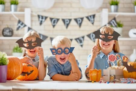 Enfants à l'Halloween