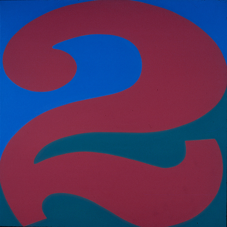 Two  , 1966 Robert Indiana, American, born 1928 Acrylic on canvas 24 x 24 in. (61 x 61 cm) Bequest of Jay R. Wolf, Class of 1951, P.976.174 © 2017 Morgan Art Foundation/Artists Rights Society (ARS), NY