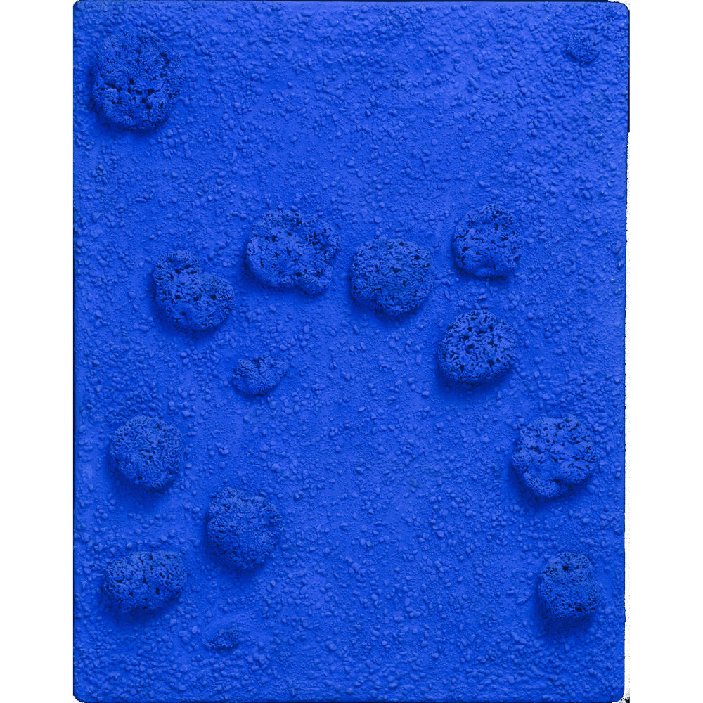 Blue Monochrome Sponge Relief (RE24) , 1960   Yves Klein