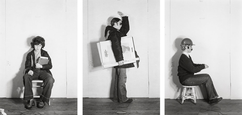 Bus Riders     Series (Untitled (Art Student), Untitled (Woman with Knapsack), Untitled (Bus Driver))  , negative 1976; print 2005 Cindy Sherman, American, born 1954 Gelatin silver print Each-Sheet: 9 15/16 × 8 1/16 in. (25.2 × 20.4 cm); Image: 7 7/16 × 5 in. (18.9 × 12.7 cm) Purchased through the Miriam and Sidney Stoneman Acquisition Fund, 2014.61.1, 2014.61.2, 2014.61.3 Images courtesy of the artist and Metro Pictures, New York © Cindy Sherman