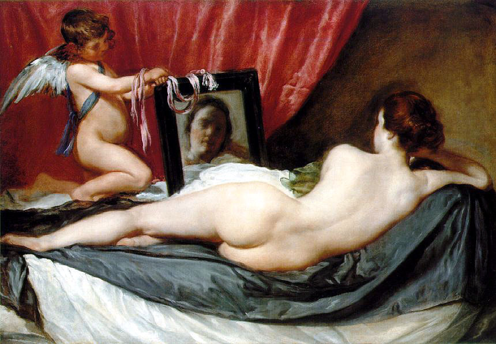 Venus at Her Mirror, Diego Velazquez, 1644, oil on canvas, National Gallery, London, England
