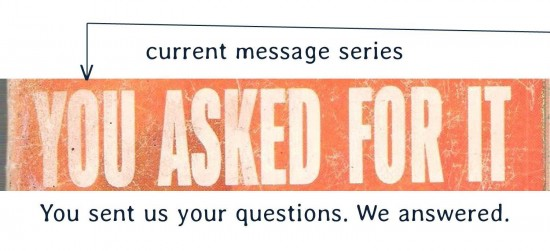 you asked for it current message series complete for post