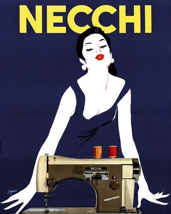 Did you know that Sophia Loren was once the face of Necchi sewing machines? This poster from the late 1950's is a stunner!