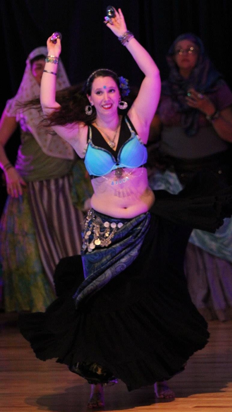 Kit Kendall Belly Dancing