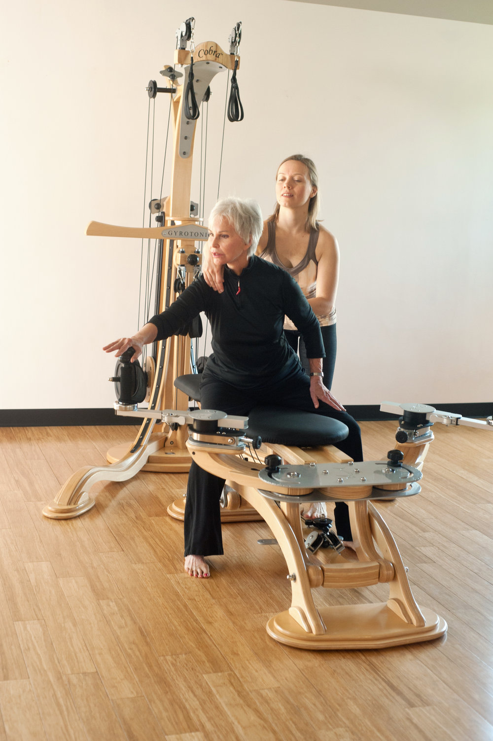 GYROTONIC® trio and duet classes on the GYROTONIC® pulley tower