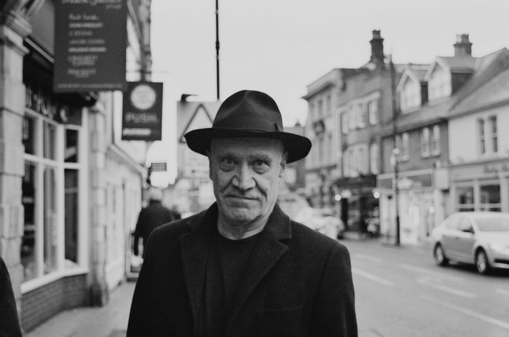 the legend that is Wilko Johnson on the street in Leigh on Sea