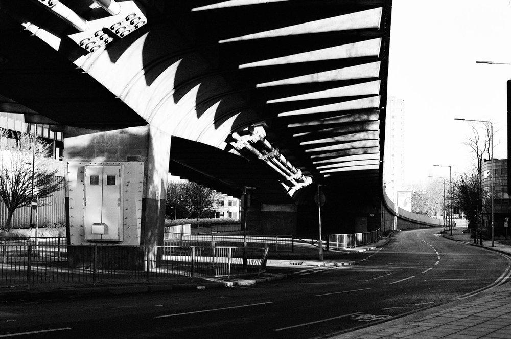 a motorway flyover in West London