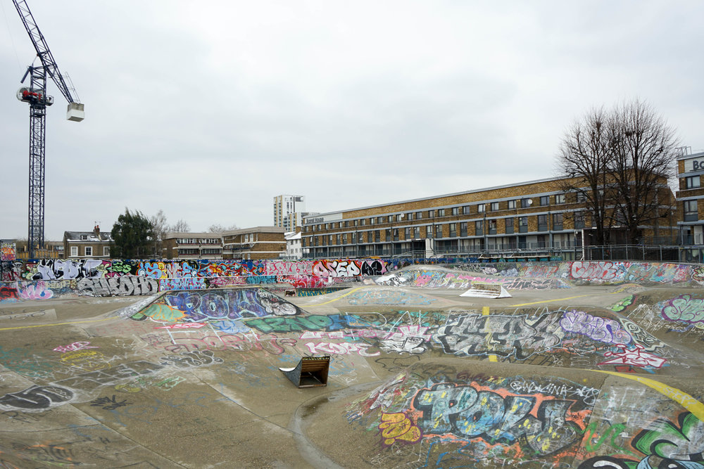 empty skate park (one of London's oldest)