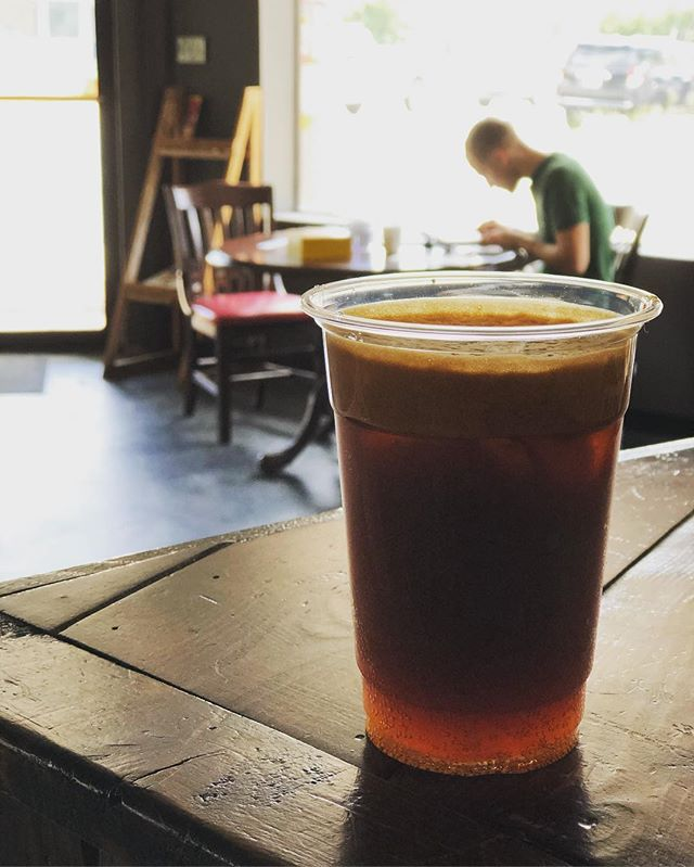 Now serving: ESPRESSO TONIC. A double shot of espresso over tonic water brings out the fruity and tart notes. . . . . . #coffee #savannah #georgia #scad #armstrong #georgiasouthern #coldbrew #historic #espresso #community #conversation #neighborhood #blessings #positiveenergy #espressotonic