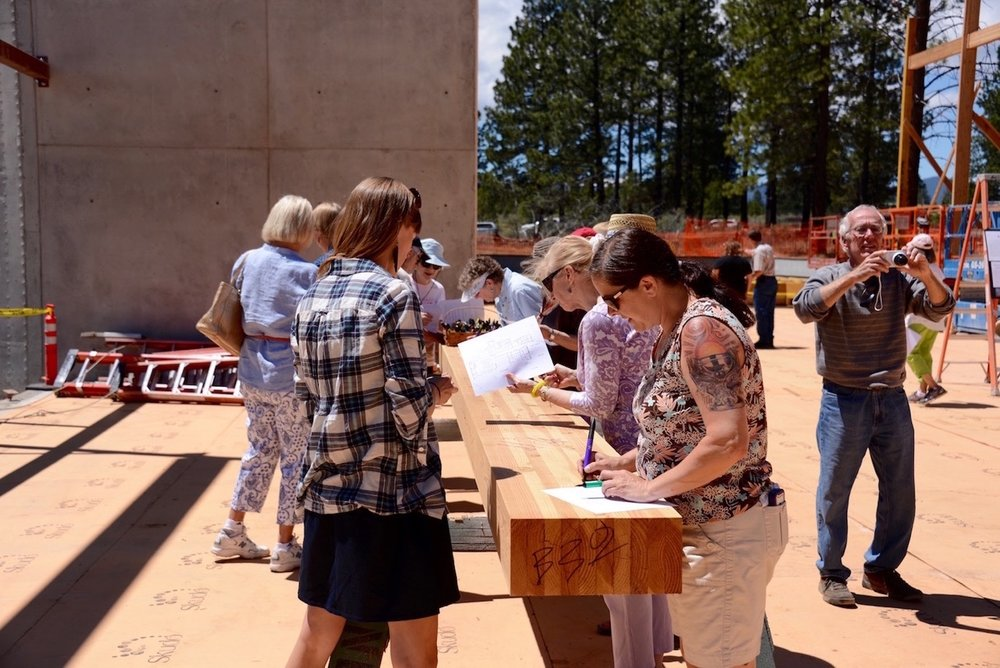 Signing a Beam for our New Home (June 2014)