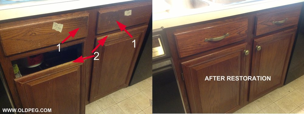This Oak Kitchen Is Still In Solid Shape However You Can See Finish Damage  Where Dirt And Grime Fused With Finish Over Time (1) And Because There Were  No ...