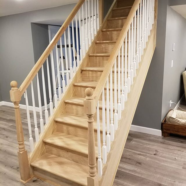@konkopito Finished this set of stairs this week. #oldpeg #oldpegfurnitureservices #woodworking #finish #finishing #woodfinishing #oak #staircase #whitewash #cnybusiness #syracusenybusiness #cnyhomes #cnyhomeimprovements