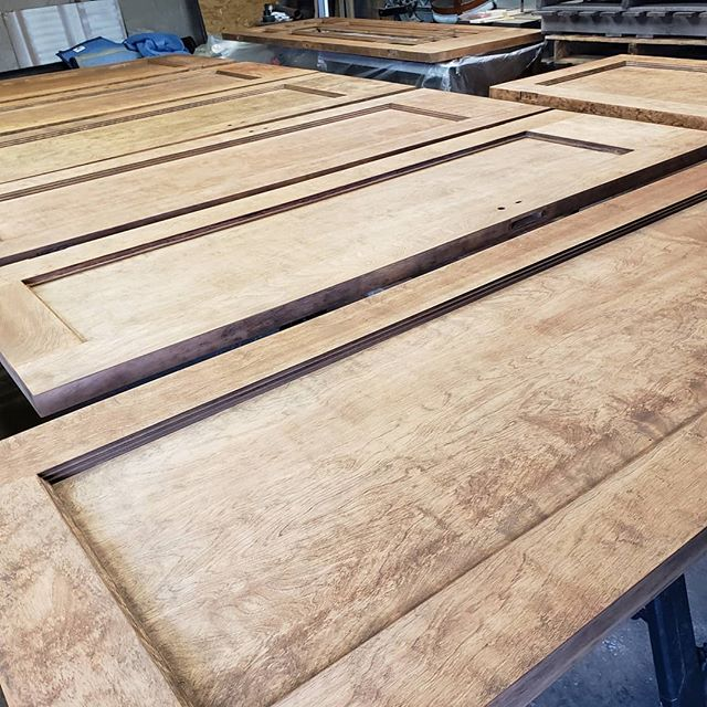 Doors, doors, doors and more doors waiting. #oldpeg #oldpegfurnitureservices #syracusefurniturerepair #furniturerepair #woodwork #restoration #restoration #refinshing #syracuseny #stainandfinish