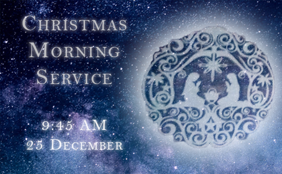 Join us as we celebrate the coming of Christ on this Christmas Day in 2018 at 9:45!