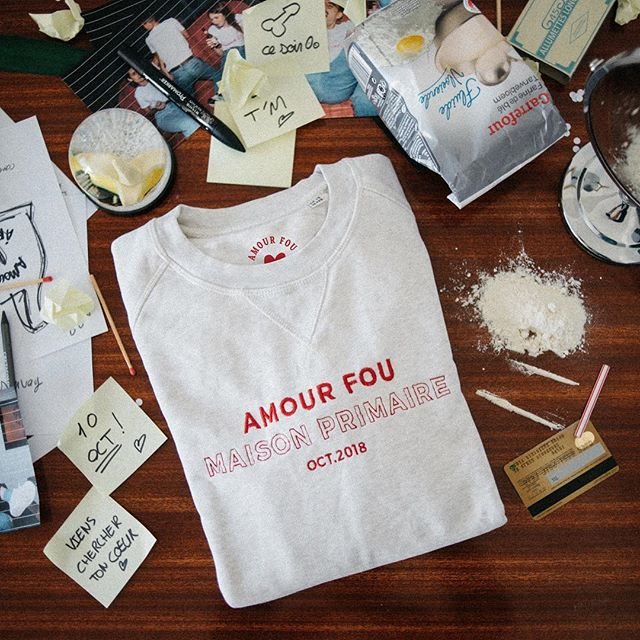 «Nous sommes ivre d'un amour fou ❤️» . Notre nouvelle collection est enfin disponible sur notre site 👀 . Nous avons hâte d'avoir vos retours 🔥 . #rennes #streetwear #maisonprimaire #rennescity #amourfou
