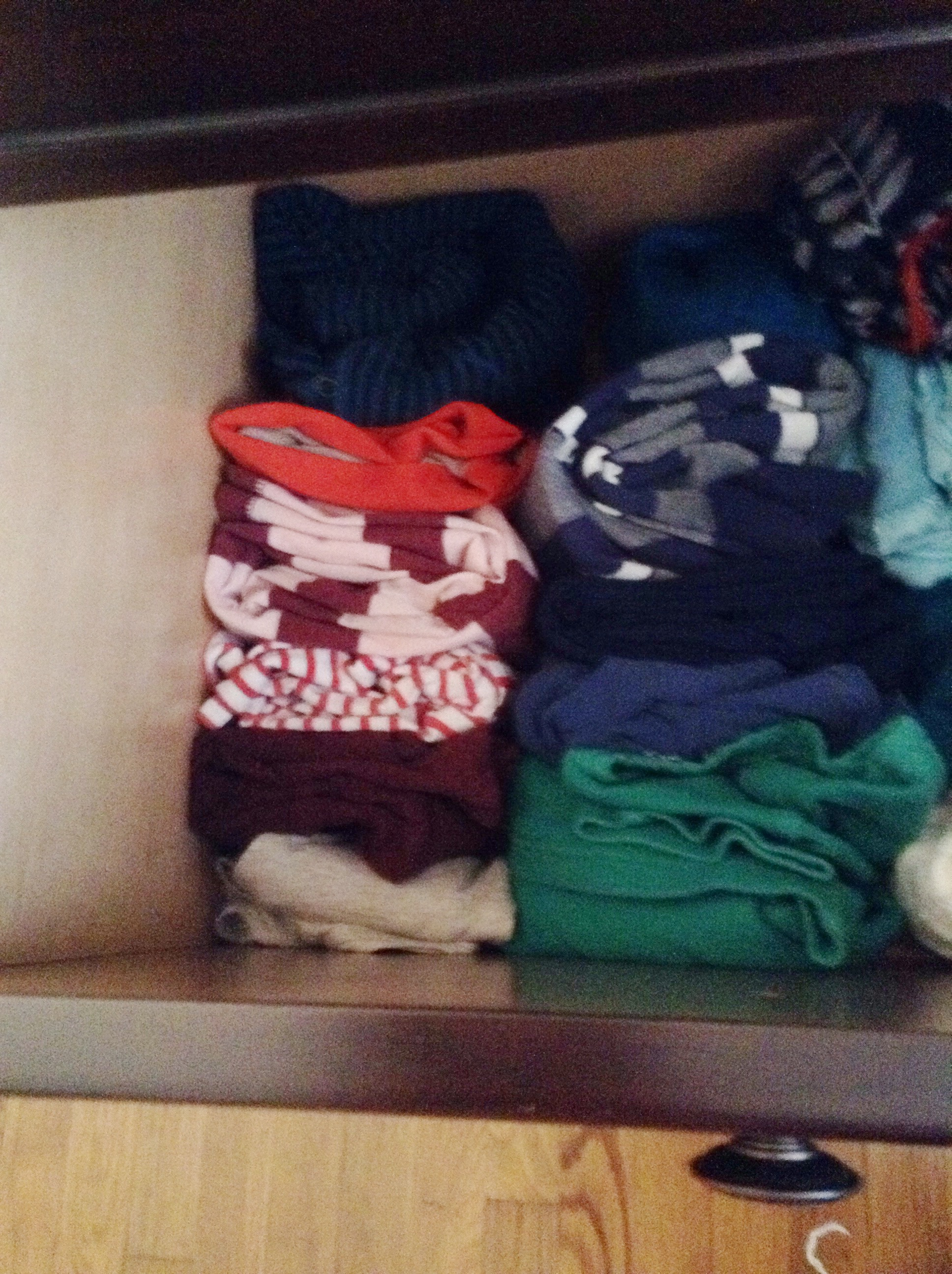 A drawer organized using Kondo's method