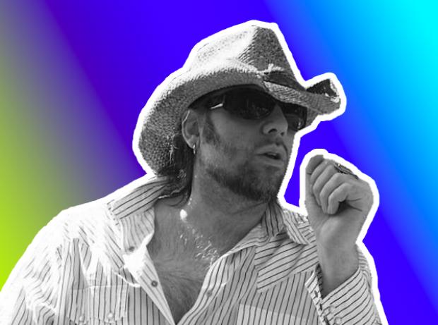 John Custer loves his hats