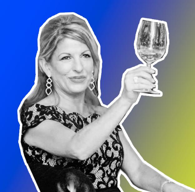 rebecca antonelli loves her champagne