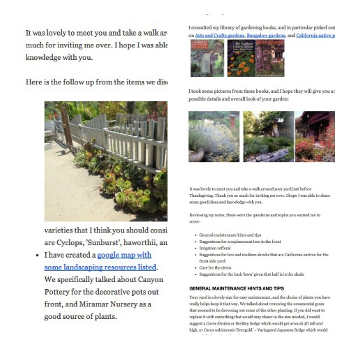 Landscape Consultancy Report Example from The Yard Fairy