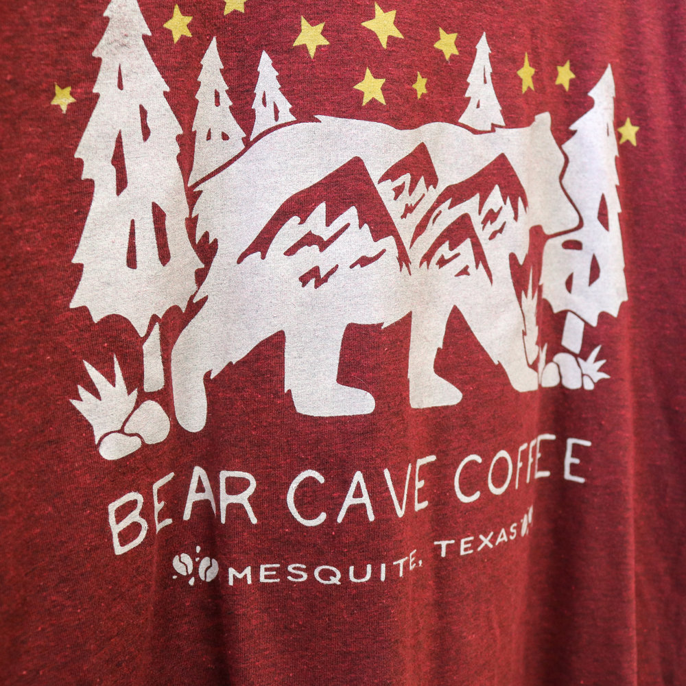 Mesquite Coffee Shop Bear Cave Coffee Tees