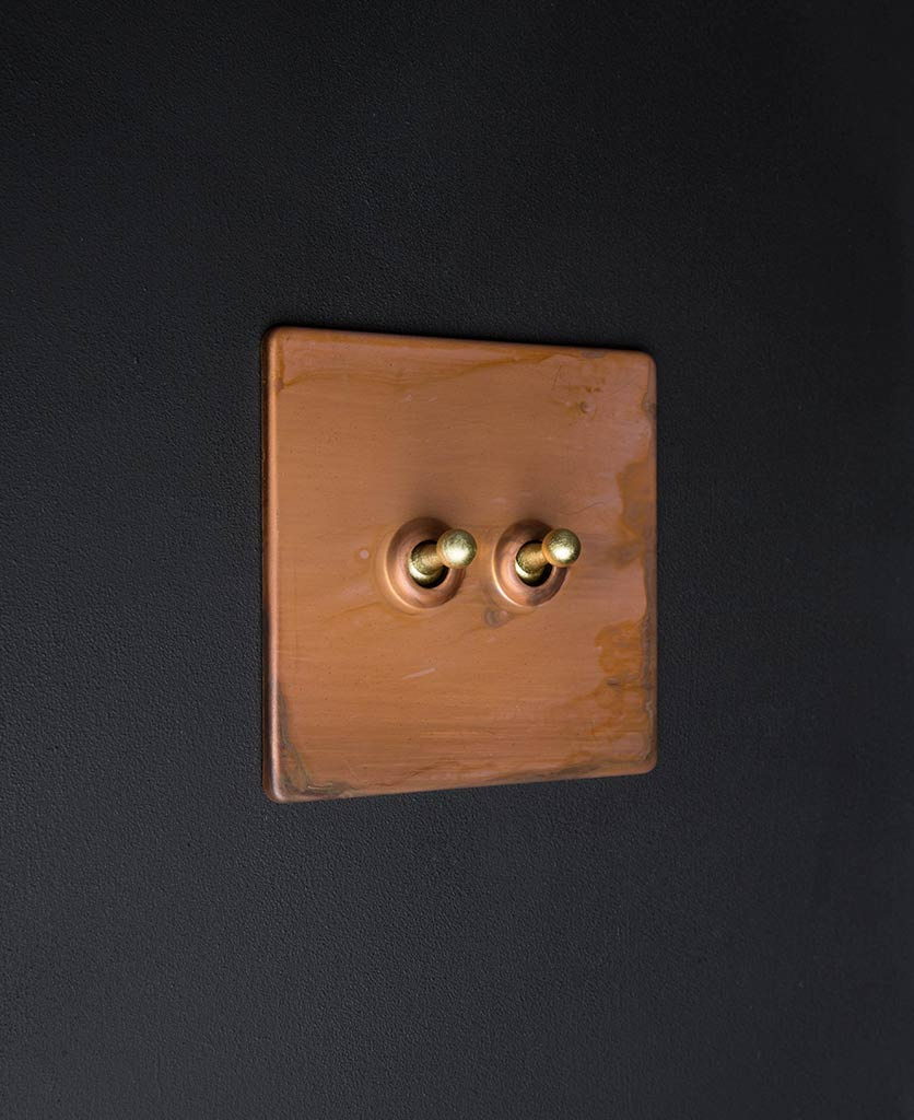 Copper Double Toggle Switch