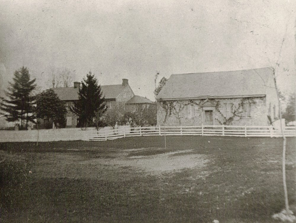 Ralston-McKeen House (L)     Wolf Academy (R)   photo ca. 1900