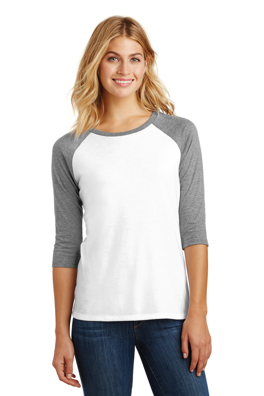 Women's 3/4 Crew - White (shown), Black, Navy, Pink, or Royal Blue | $12