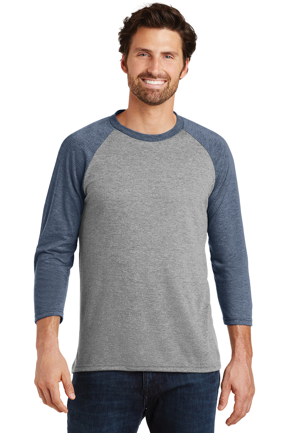 Men's 3/4 Sleeve Crew - Navy (shown), White, Black, or Royal Blue | $12