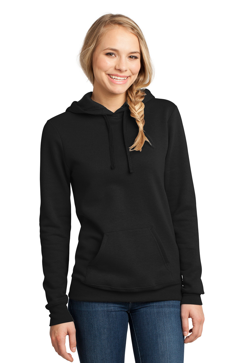 Women's Sweatshirt - Black (shown), Heather Gray, Charcoal, Royal Blue, Navy   | $22