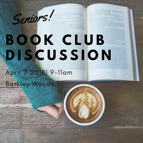 Seniors Book Club  April 7 9-11am | Barkley Woods