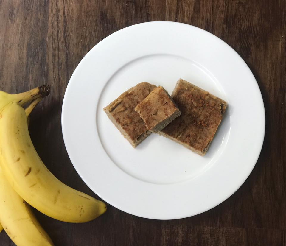 Cinnamon Banana Blondies by Kristine with Welli