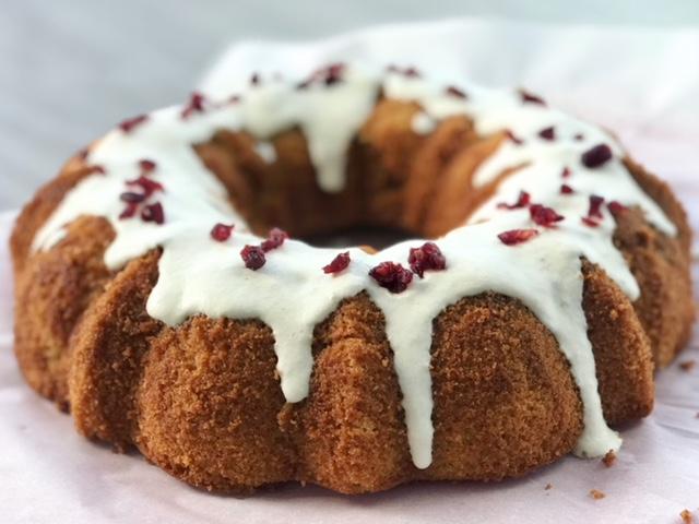 Cranberry Lemon Bundt Cake - Kristine with Welli - gluten free, vegan, grain free, paleo