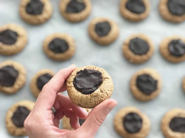 German Inspired Thumbprint Cookies - by Kristine of Welli - gluten free, vegan, grain free, paleo, low sugar