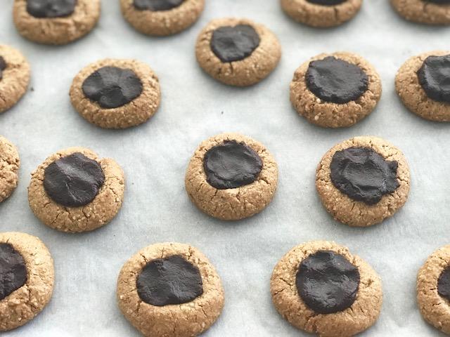 German Inspired Thumprint Cookies - by Kristine of Welli - gluten free, vegan, grain free, paleo, low sugar