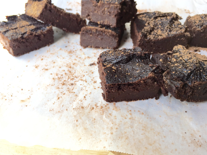 cacao brownies - by Kristine Thomas of Welli - gluten free, grain free, vegan, paleo