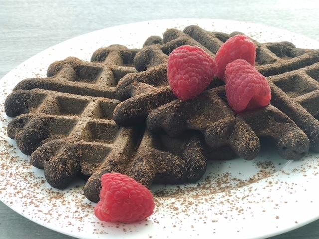 IMG_2243.JPGGrain Free Chocolate Raspberry Waffles - getWelli.com - vegan, paleo, gluten free, no sugar added