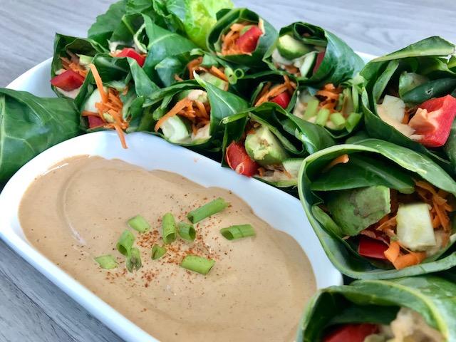 Summer Rolls and Spicy Peanut Dip - www.getWelli.com - #getWelli #vegan #grainfree #paleo #sugarfree #raw