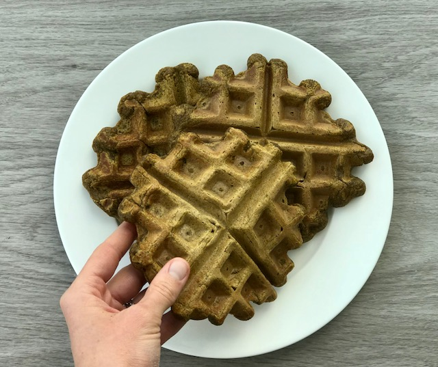 pumpkin buckwheat waffles - www.getWelli.com - #vegan #glutenfree #grainfree #paleo #leftovers #thanksgiving #breakfast