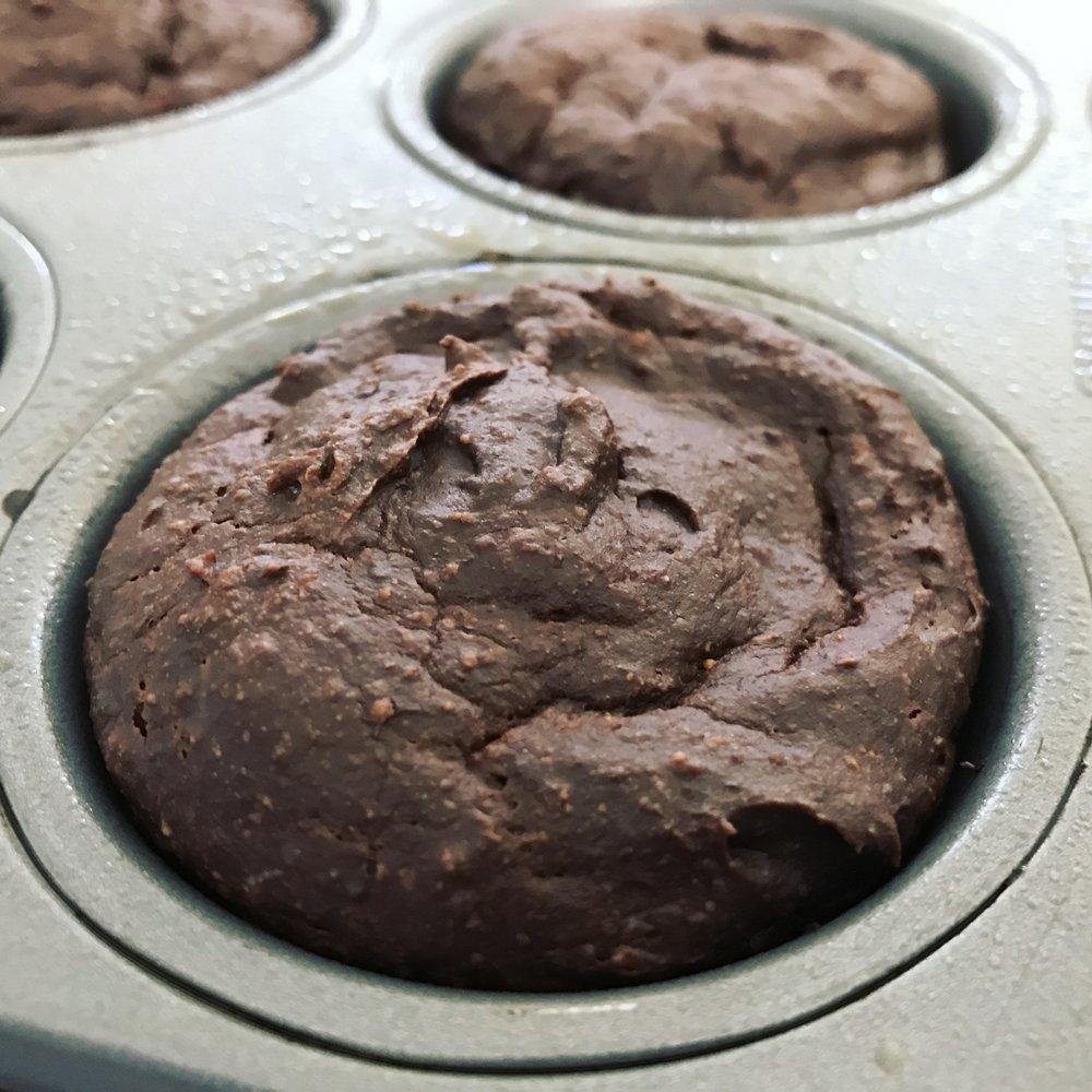 Grain Free Chocolate Peppermint Muffins - www.getWelli.com - #vegan #grainfree #paleo #sugarfree #christmas #holidays #breakfast