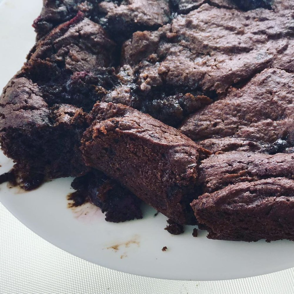 I'll be honest, I under-baked these because I love über gooey brownies!