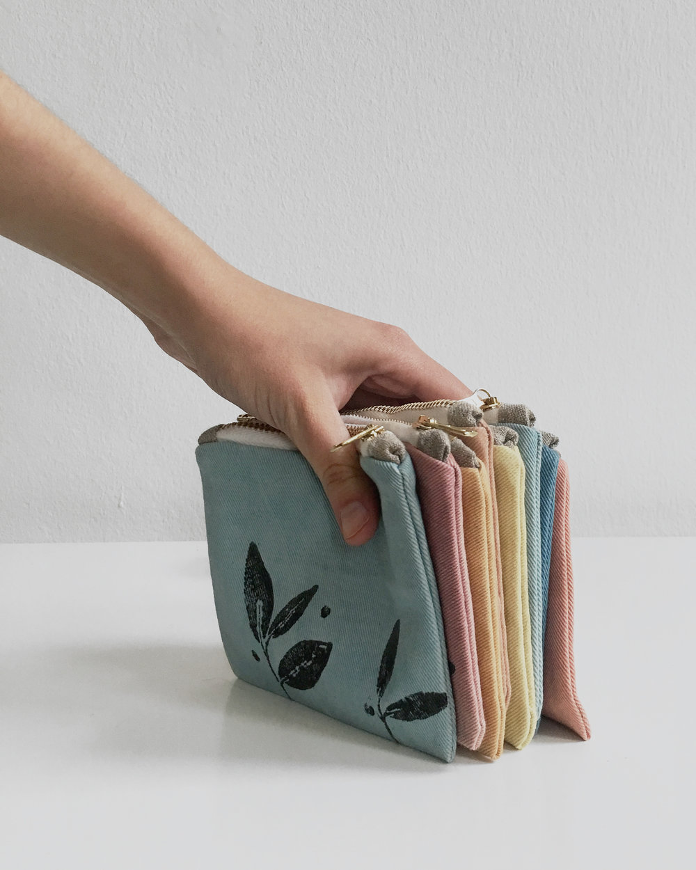 Shop update - eye pillows and plant dyed zipper pouches