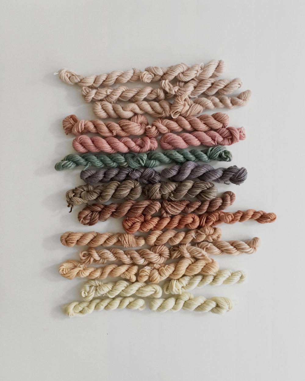 Custom yarn set for weaving workshops