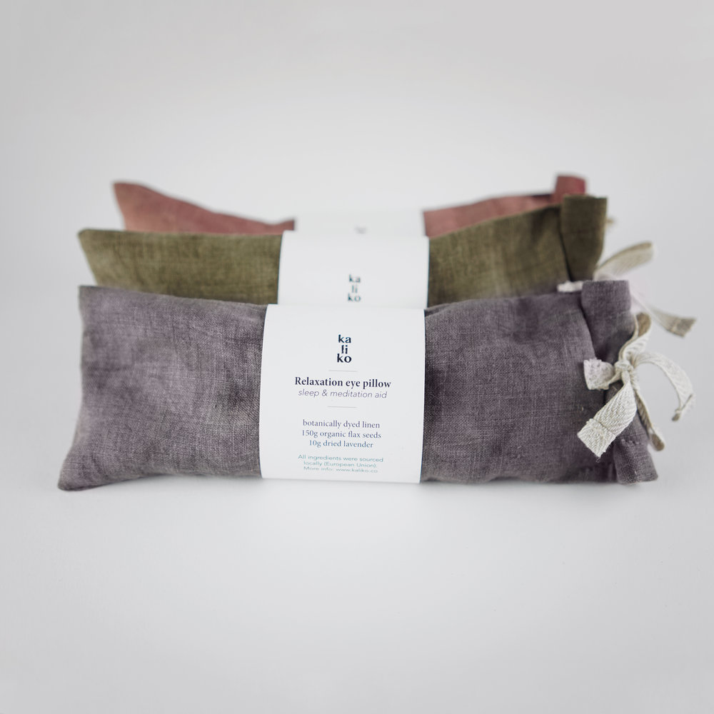 How plant-infused eye pillows can help you with your blocked nose