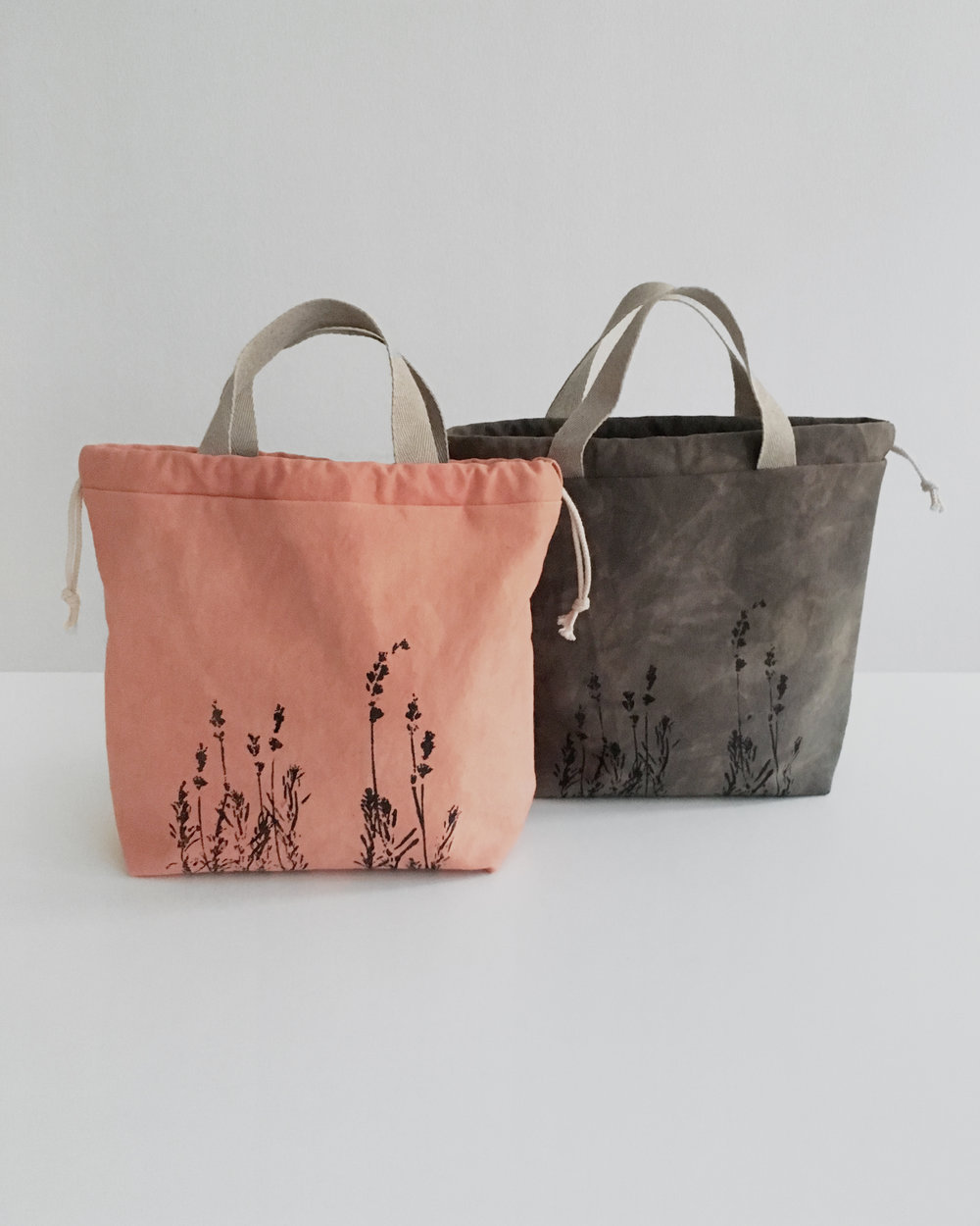New ethical and sustainably made drawstring project bags for knitters