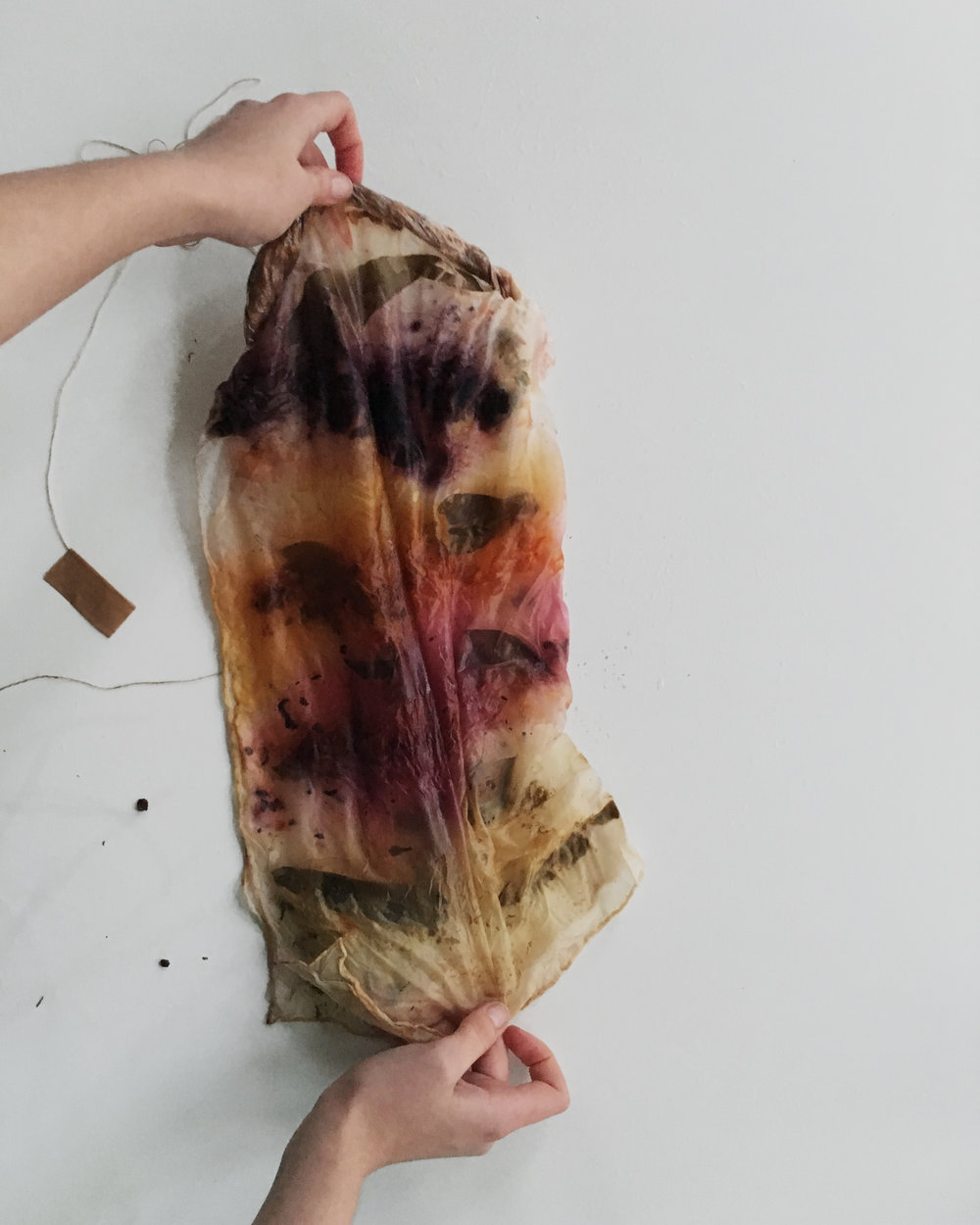 How to make a bundle dyed silk scarf step by step