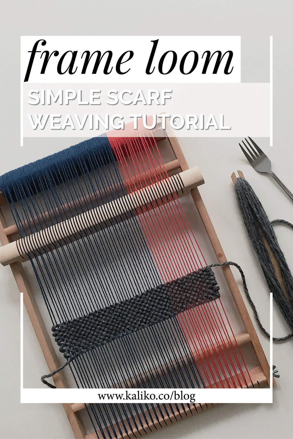 How to weave a scarf on a frame loom - free tutorial video